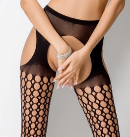 Passion zwarte strip panty  S006