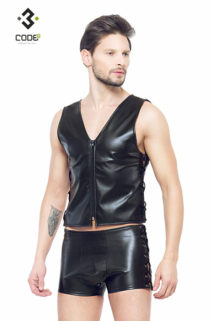* Code8 by XXX COLLECTION Eco-leder gilet