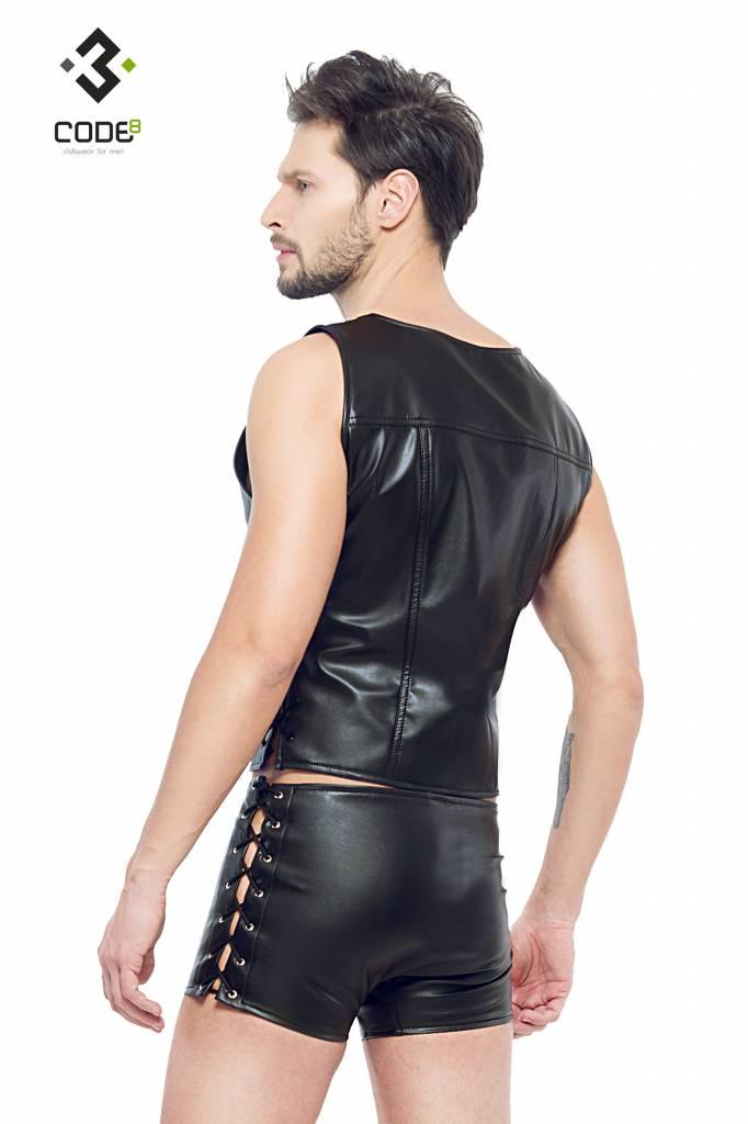 Code8 Eco-Leder Eco-leder waistcoat