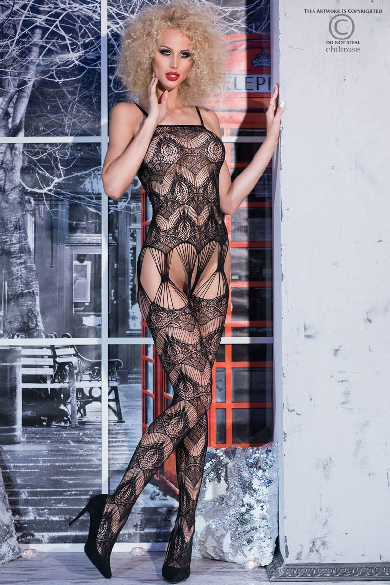 CHILIROSE Bodystocking CR4234-Zwart