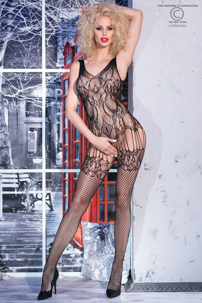 CHILIROSE Bodystocking CR4232-Zwart