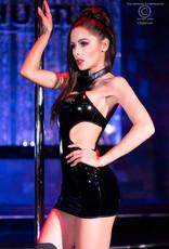 CHILIROSE Latex-look mini jurk
