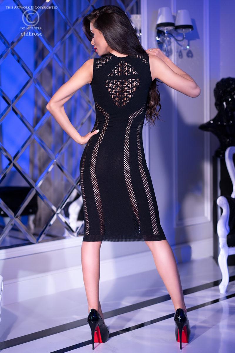 CHILIROSE Zwart naadloze jurk CR4300-B van Chilirose