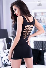 CHILIROSE Zwart naadloze jurk CR4304-B van Chilirose