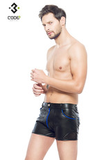* Code8 by XXX COLLECTION Heren short met mesh en gekleurde biezen en rits.
