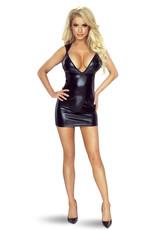 PROVOCATIVE Sexy zwart wetlook jurkje van Provocative.