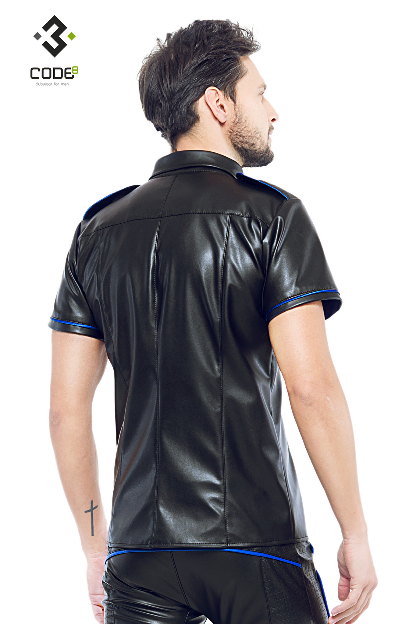 * Code8 by XXX COLLECTION Shirt van hoge kwaliteit PU-Leer