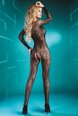 LIVCO CORSETTI Sensuele vrouwelijke zwarte bodystocking  Abra van Livco Corsetti