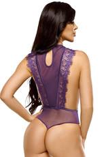 Verleidelijke paarse kanten string body