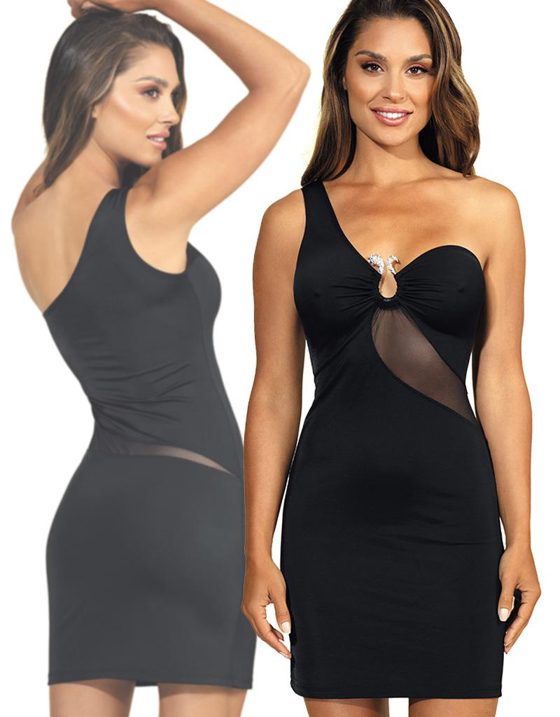 Asymmetrische jurkje Veronica