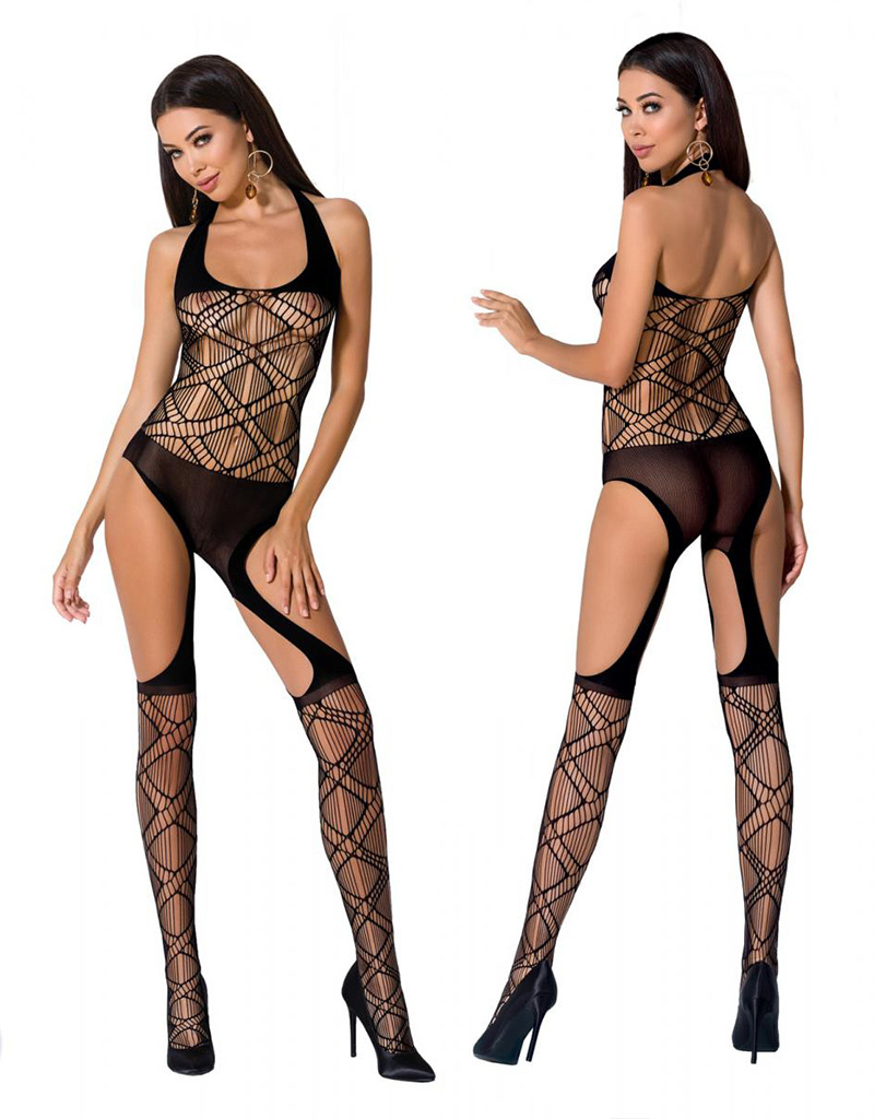 Zwarte bodystocking Kaly van Passion