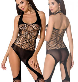 Zwarte bodystocking Kaly