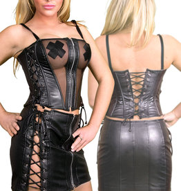 * SOLEIL  by XXX COLLECTION Sexy Rokje met vetersluiting