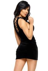 Verleidelijke zwart jurkje Solan