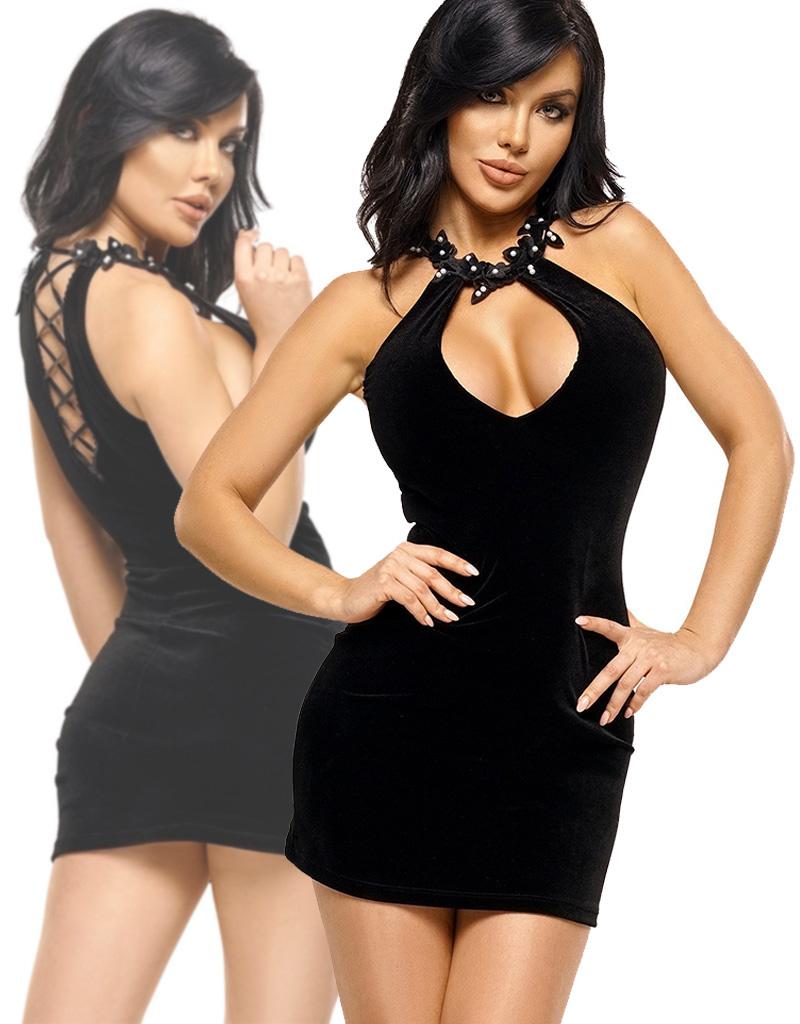 Zwart jurkje Solan
