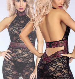 Zwarte kanten jurk Kirsten