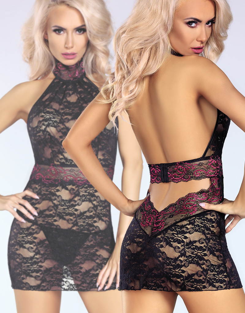 Zwarte kanten jurk Kiersten