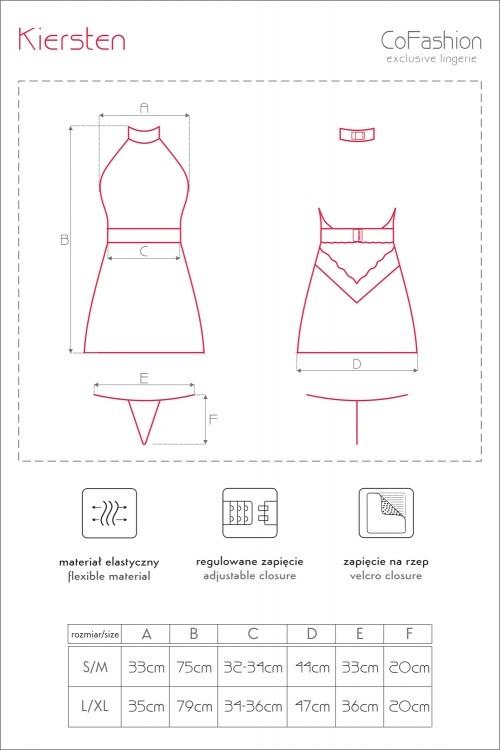 Zwarte kanten jurk Kiersten met roze rand van CoFashion