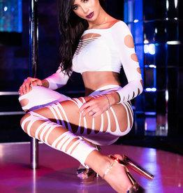 * CHILIROSE Sexy witte top met legging