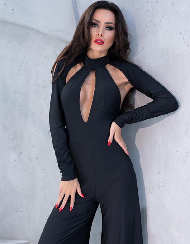 CHILIROSE Sexy zwarte overall van Chilirose