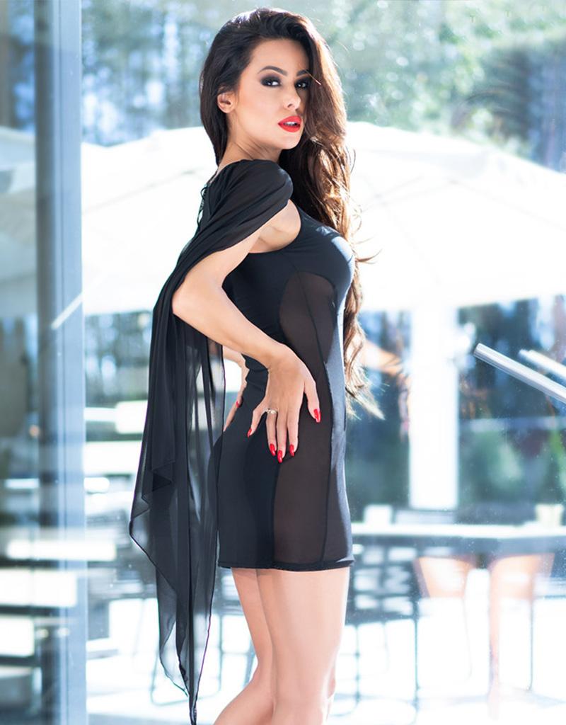 * CHILIROSE Zwart Jurkje CR4329-Zwart  van Chilirose