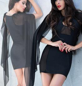 * CHILIROSE Zwart jurkje met vleugel mouwen