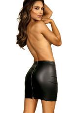 Sexy mini rokje  in combinatie van zacht tule en latexachtig materiaal