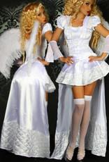 Ondeugend wit engelen kostuum