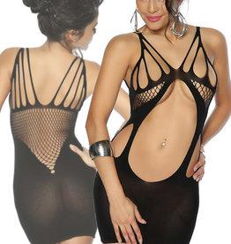 Sexy zwart negligé jurkje