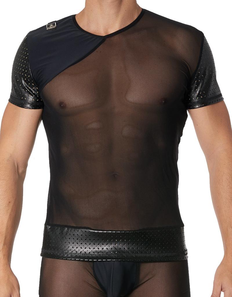 Tulle heren Shirt met lederlook van het merk Look Me