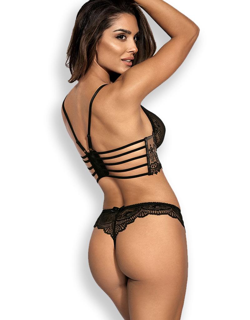 Sexy zwarte bustier Sanne