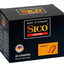 Sico Ribbed Condooms - 50 Stuks