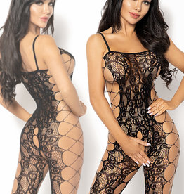Zwarte bodystocking Portian