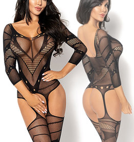 Zwarte bodystocking Esmeral