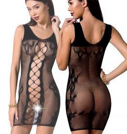 Zwart mesh jurkje Rona