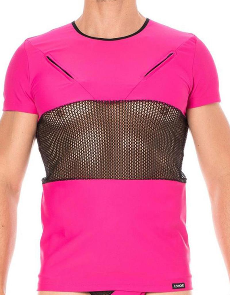 Heren Shirt in combinatie met mesh