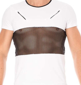 Heren Shirt in combinatie met  mesh