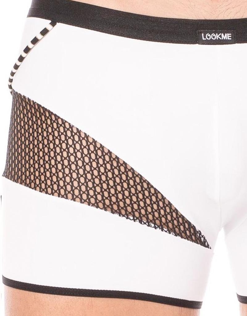 Heren boxer met een mesh deel en elastische witte stof van  het merk Look Me