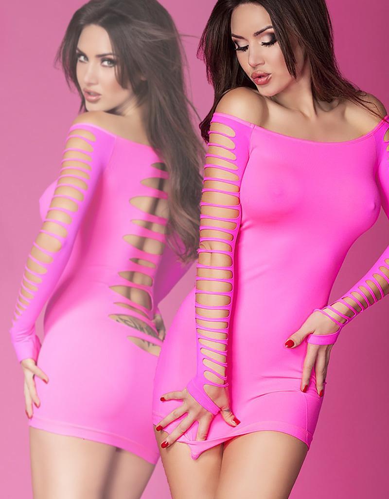 * CHILIROSE Roze naadloze jurk