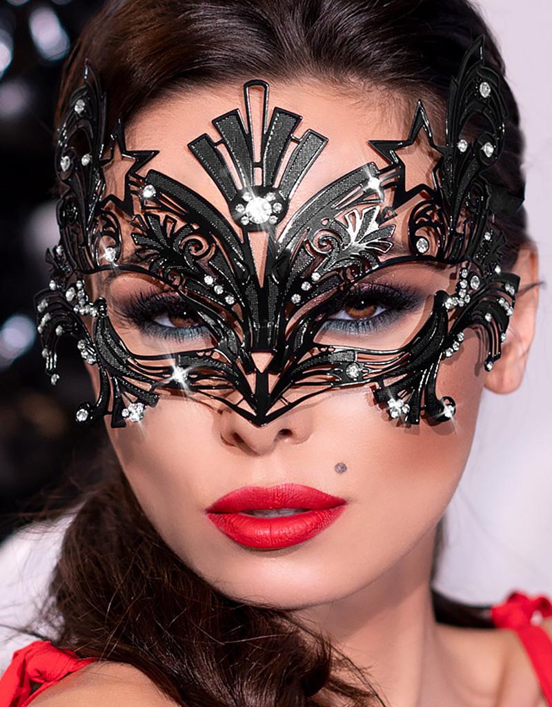 * CHILIROSE Extravagante masker van messing