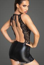 * NOIR handmade Spannend mini jurkje van wetlook met kant van Noir Handmade - Copy