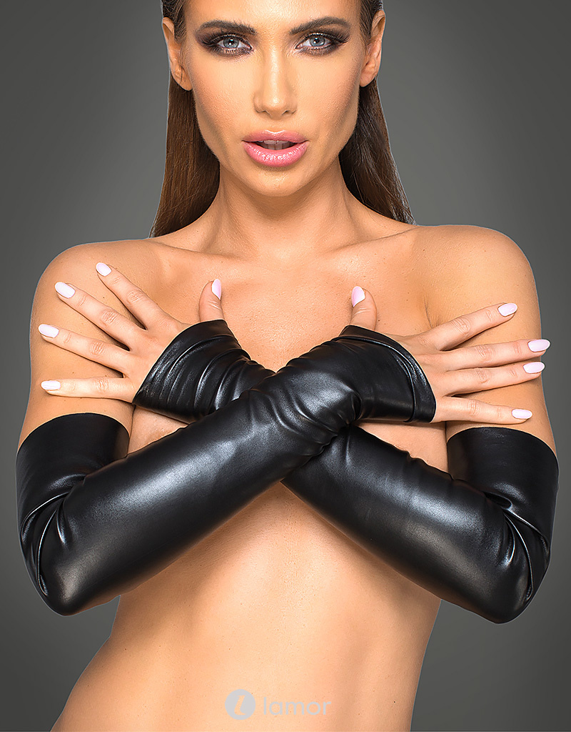 * NOIR handmade Handschoenen van elastisch pu-leer
