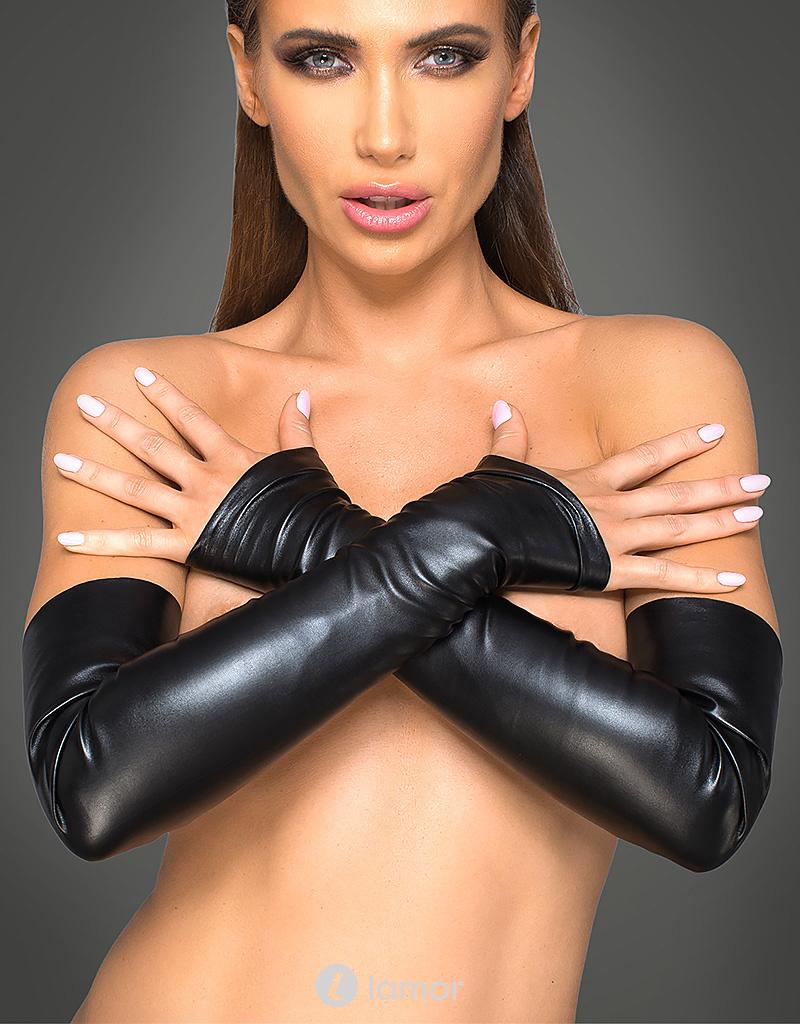 * NOIR handmade Handschoenen van elastisch pu-leer van Noir Handmade - Copy