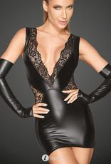 * NOIR handmade Spannend mini jurkje met diep decoletté van Noir Handmade