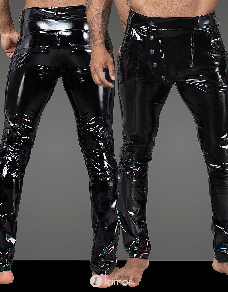 * NOIR handmade Sexy elastische PVC heren broek met  van Noir Handmade