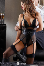 Sexy glanzende wetlook bondage body Cadence