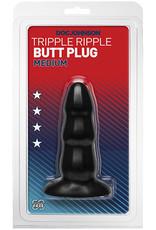 Triple Ripple Butt Plug - Medium