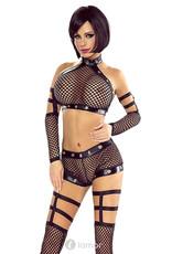 * PROVOCATIVE 4-delige set mesh lingerie set van Provocative.