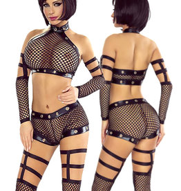 * PROVOCATIVE 4-delige set mesh lingerie set