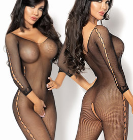Zwarte net-bodystocking Marta